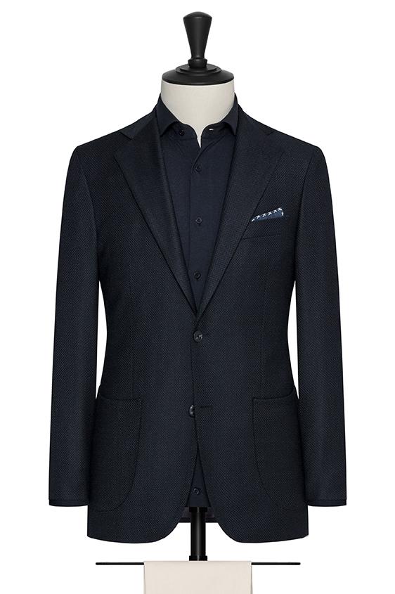 """Сине-черный пиджак с эфектом """"стрейтч"""""""